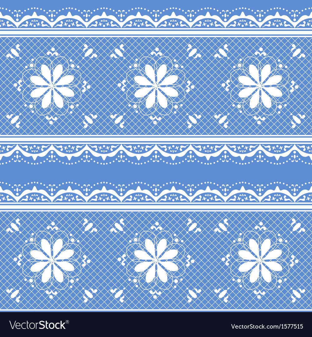 Floral lace pattern for design