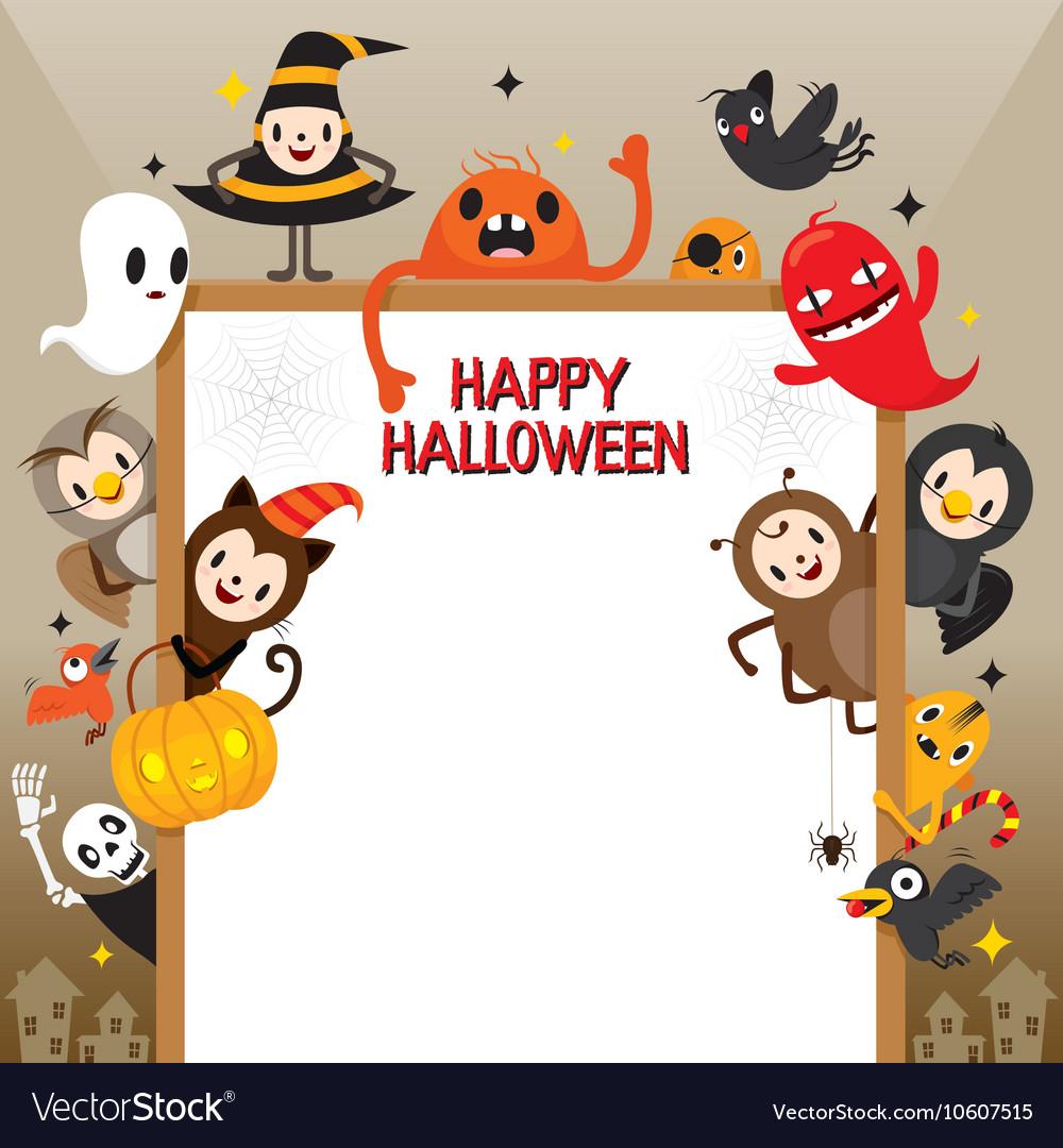Halloween Cartoon Character On Frame
