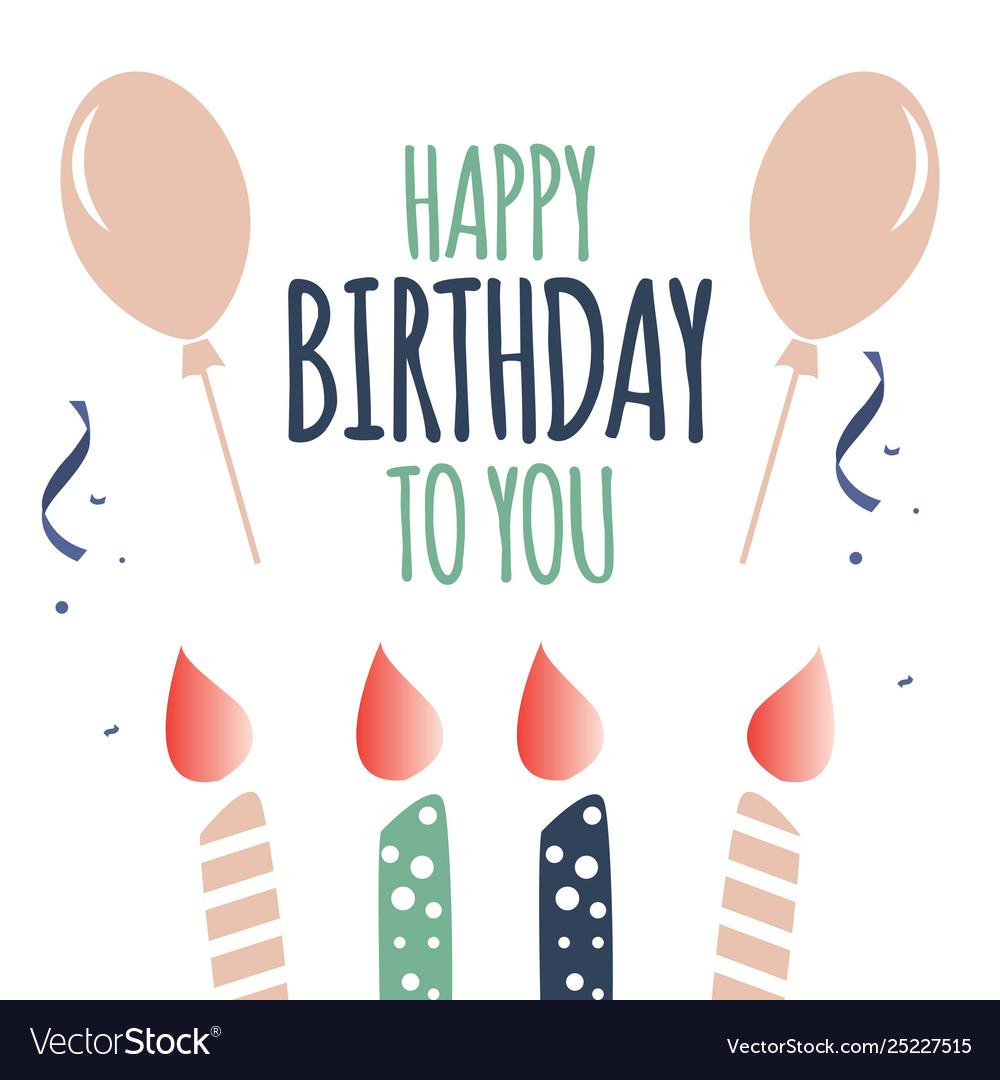 Happy Birthday To You.Happy Birthday To You Template Design