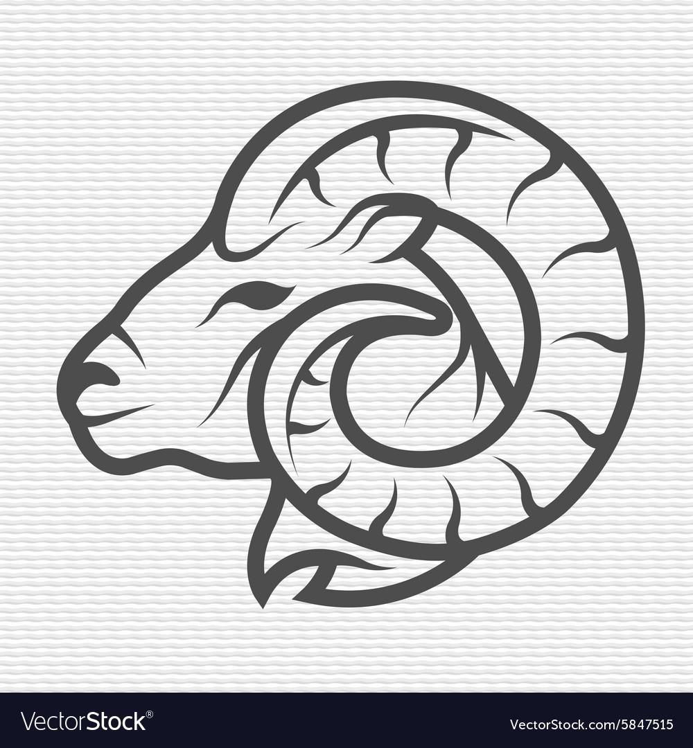 Ram symbol logo emblem