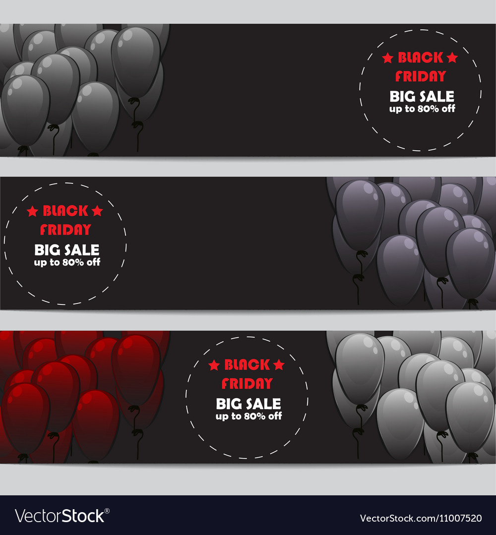 Black Friday banners set vector image