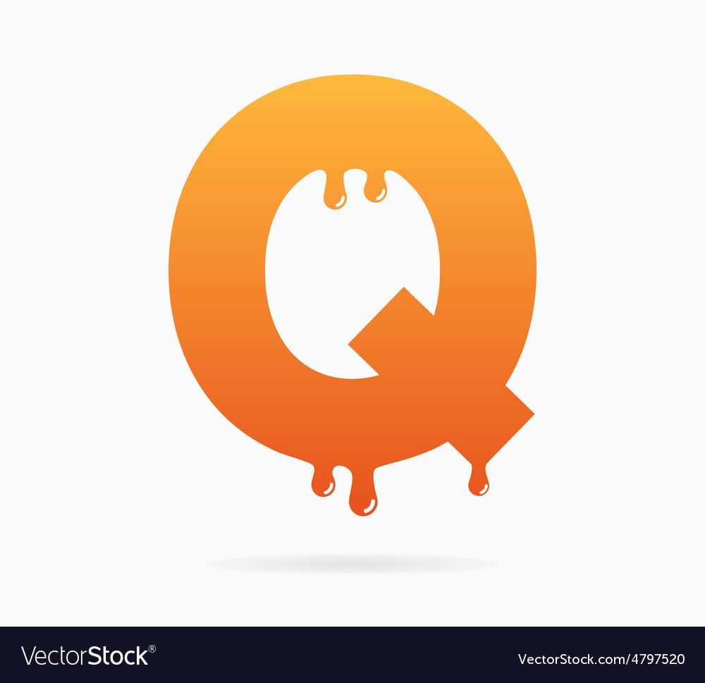 Letter Q logo or symbol icon vector image
