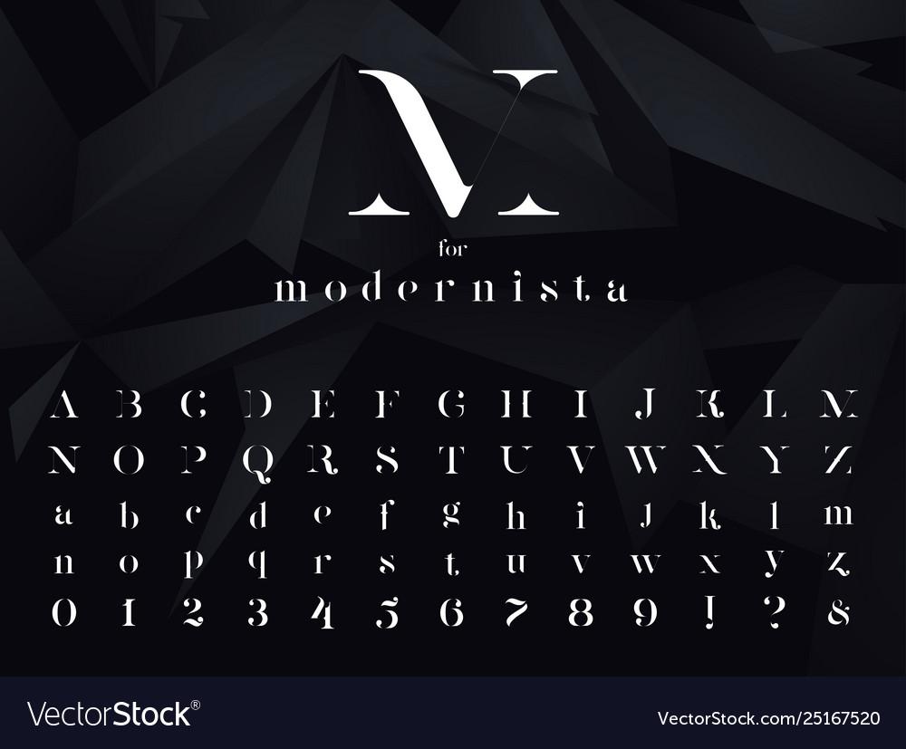 Modernista modern minimalistic font typeface