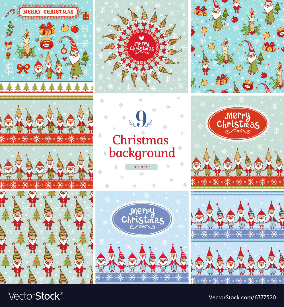 Christmas Backgrounds Cute.New Year And Christmas Backgrounds Set In
