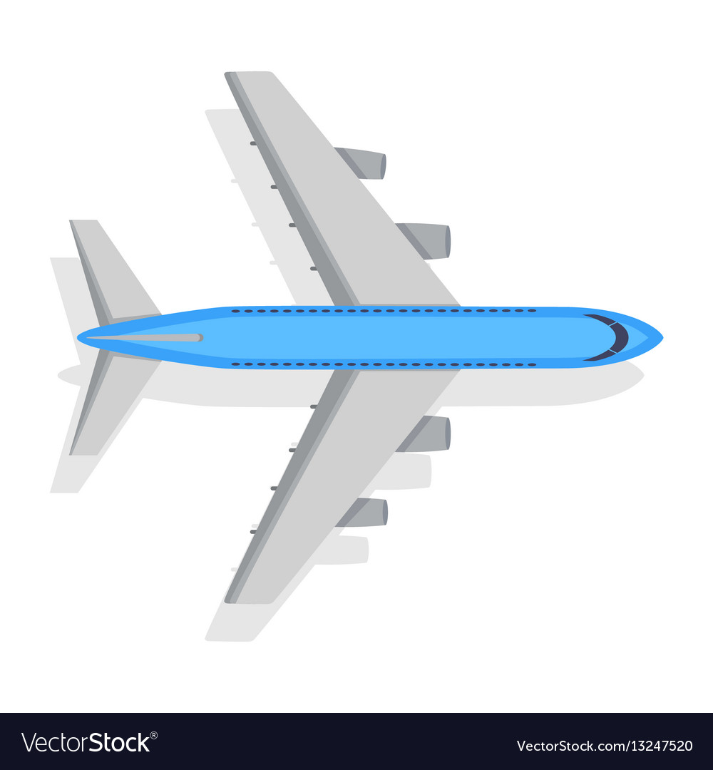 Plane icon on white background transport