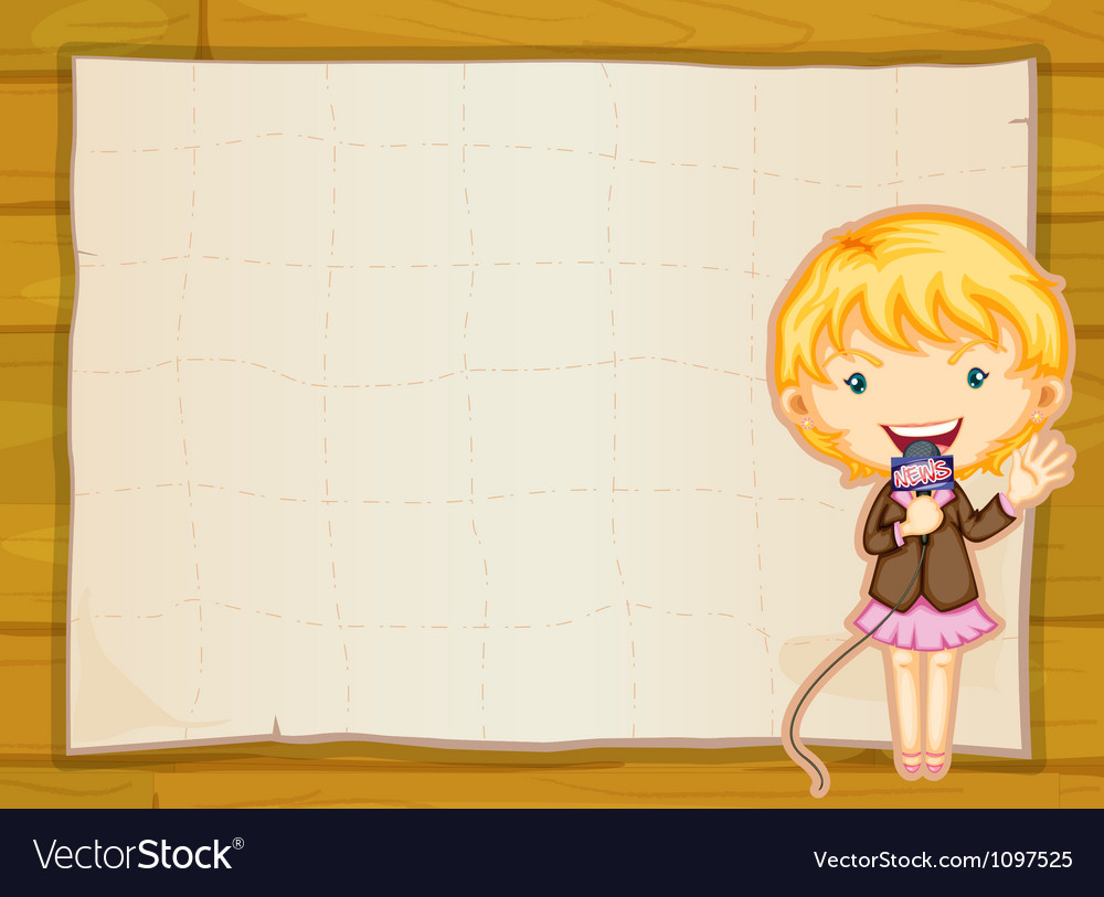 A girl and paper sheet