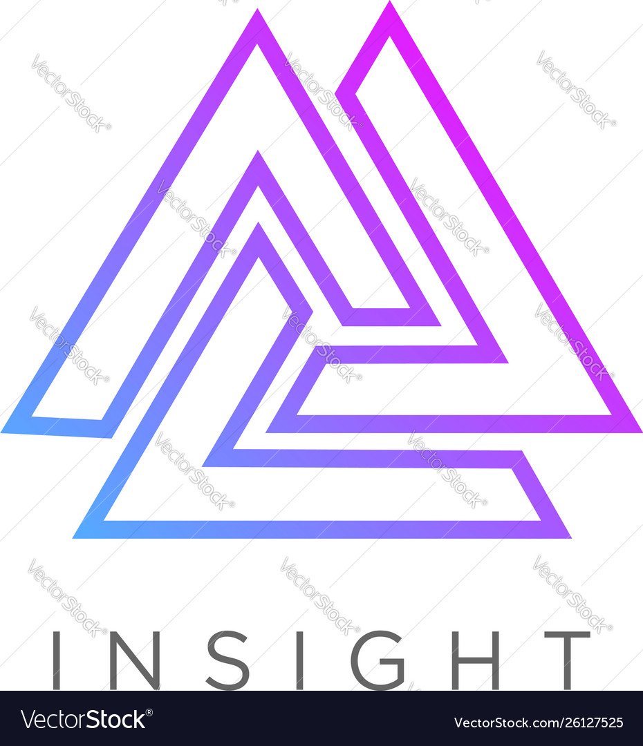 Abstract line art triangle logo sign symbol icon