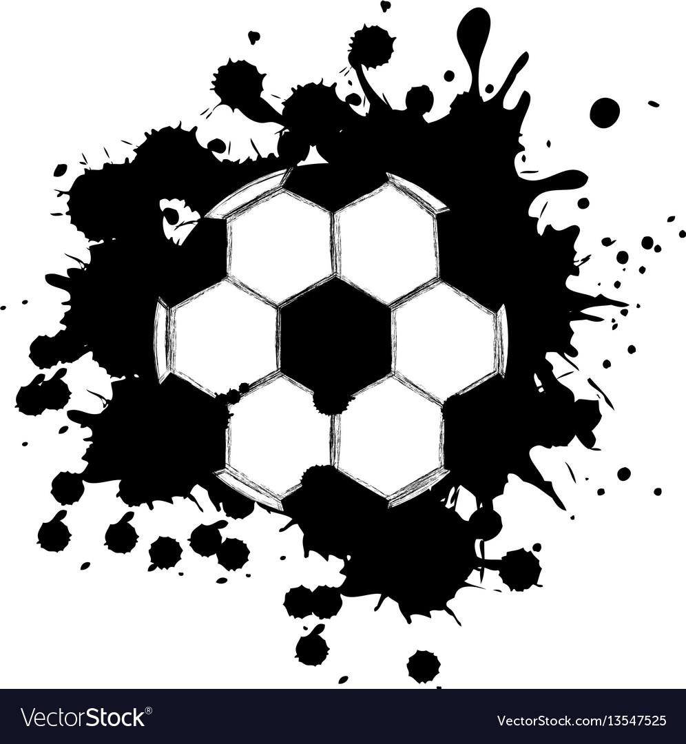 Black contour soccer ball icon