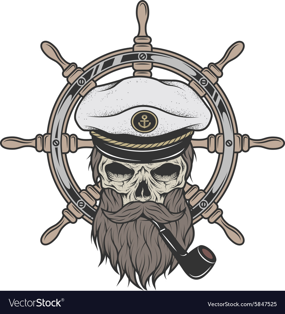 Captain Skull in a hat with a beard