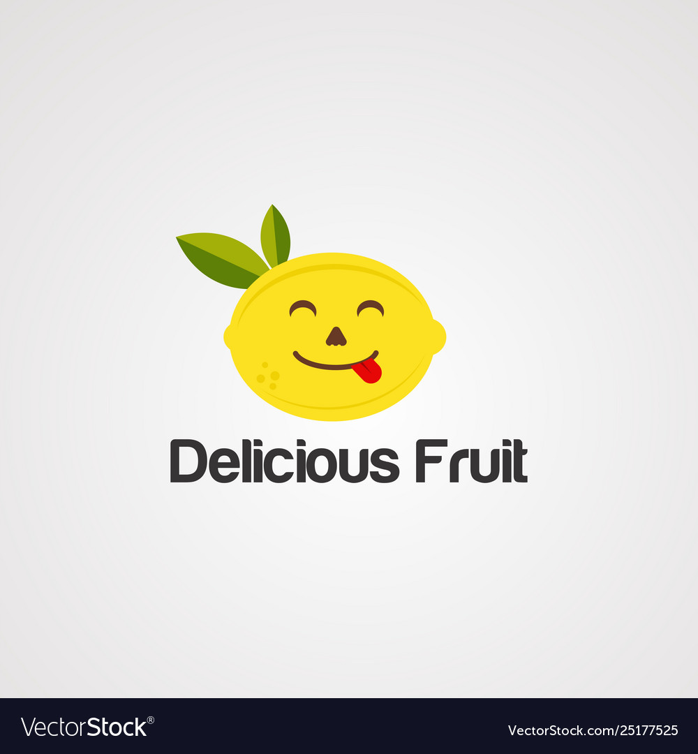 Delicious fruit logo icon element and template