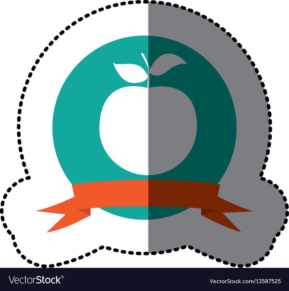 Emblem apple fruit icon