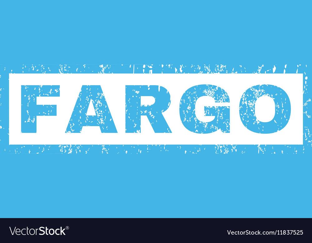 Fargo Rubber Stamp Vector Image
