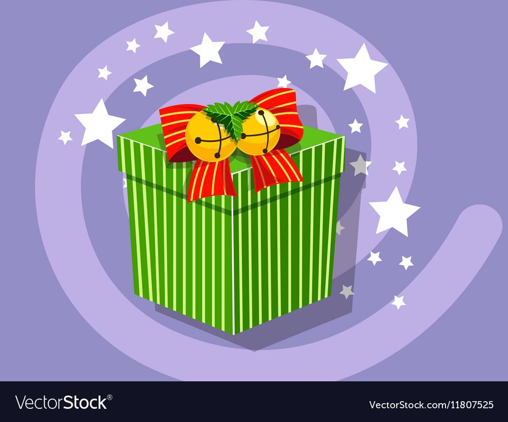 Gift icon christmas vector image