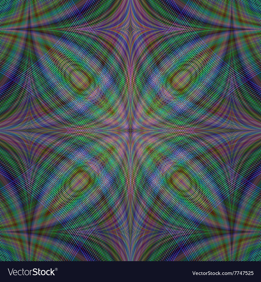 Gloomy abstract fractal background vector image