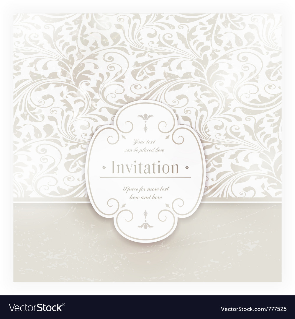 Grungy floral card with label royalty free vector image grungy floral card with label vector image stopboris Images