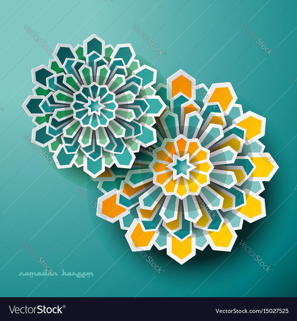 Islamic geometric art greeting ramadan