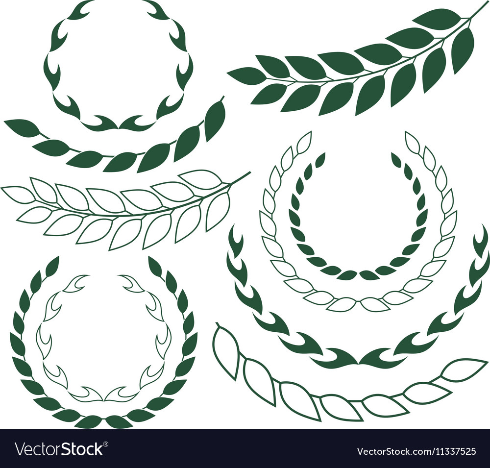 Laurel Wreath Outline Silhouette vector image