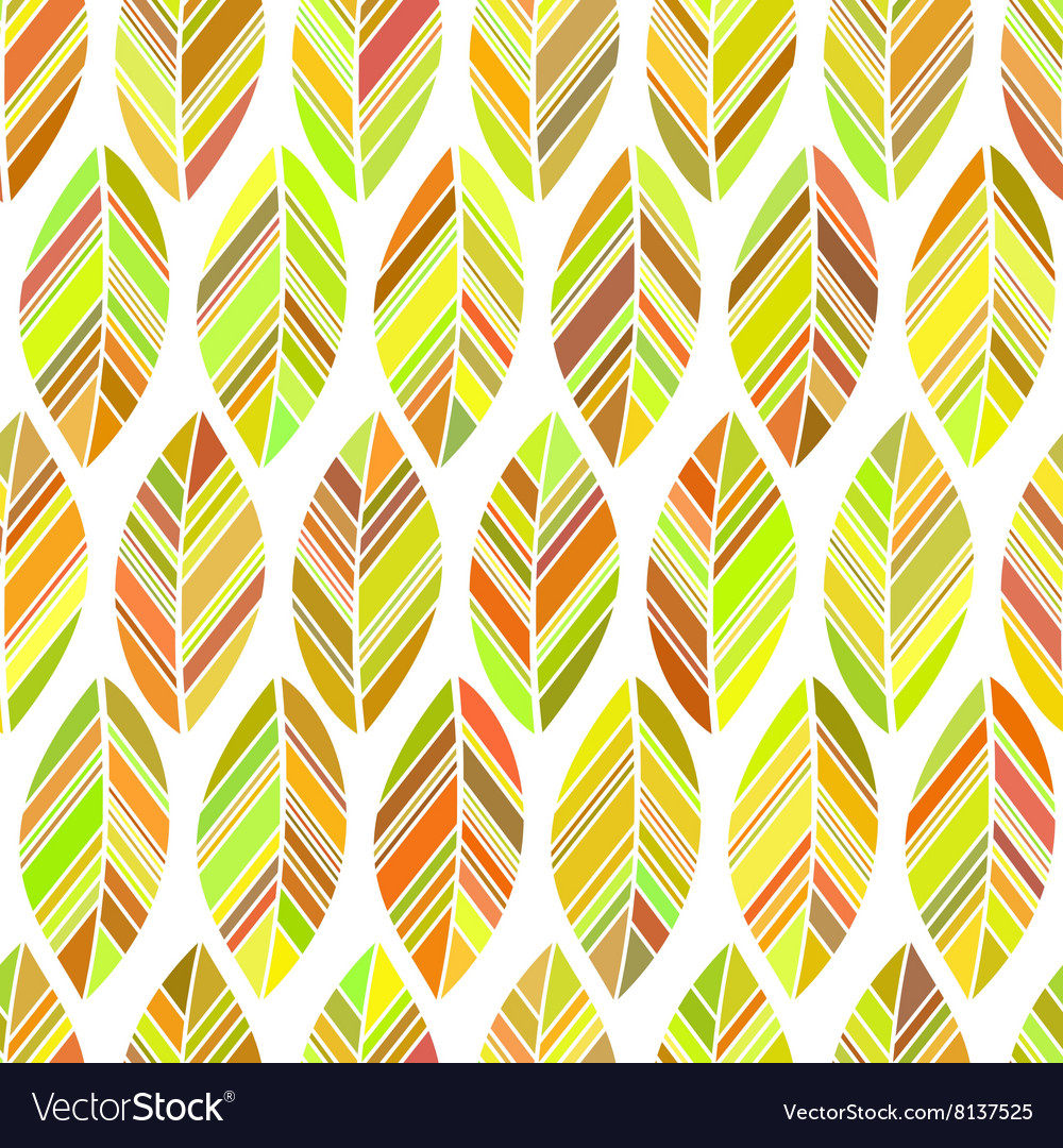 Leaves seamless colored