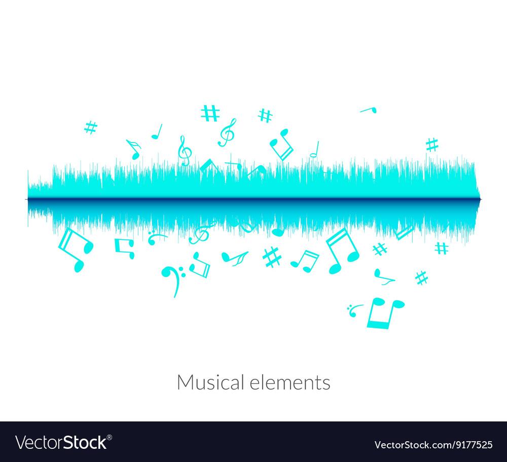 Musical sound wave equalizer stylish concept