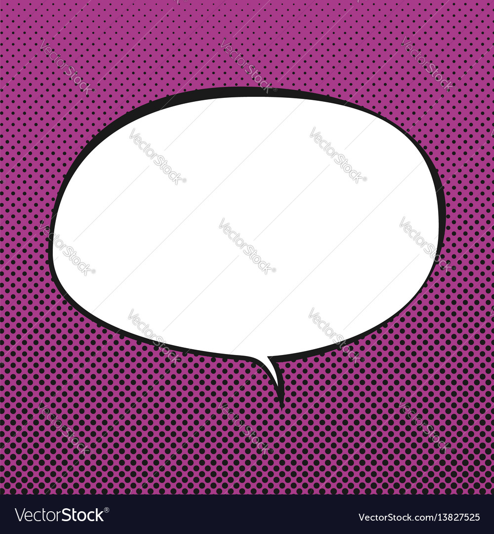Oval speech bubble retro style