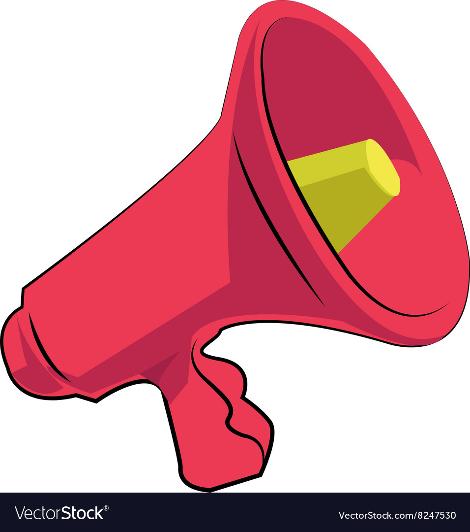 Bullhorn vector image