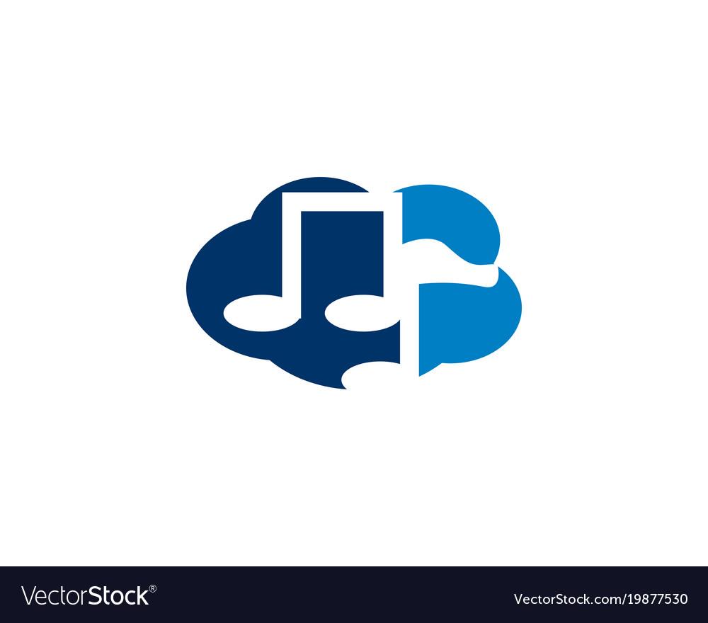 Cloud music logo vector image