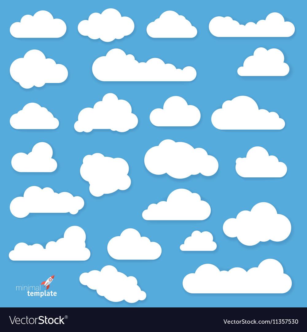 Flat design clouds