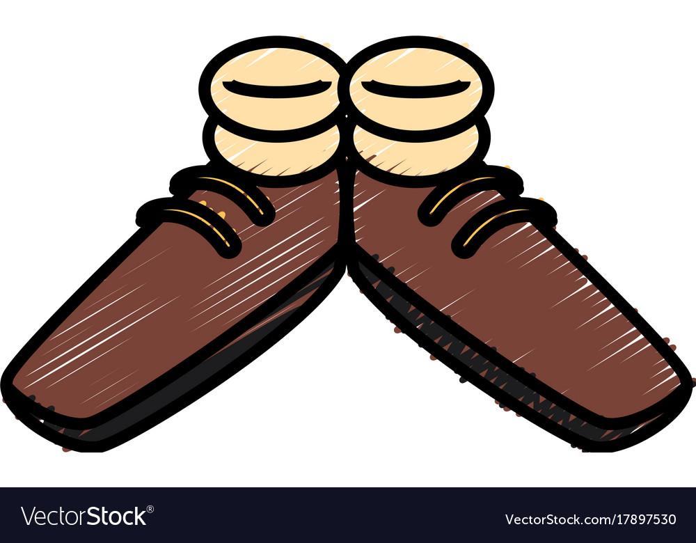 Funny Shoes Cartoon Royalty Free Vector Image Vectorstock
