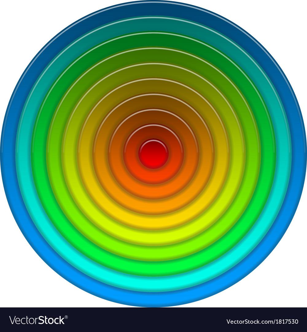 Round multicolored button