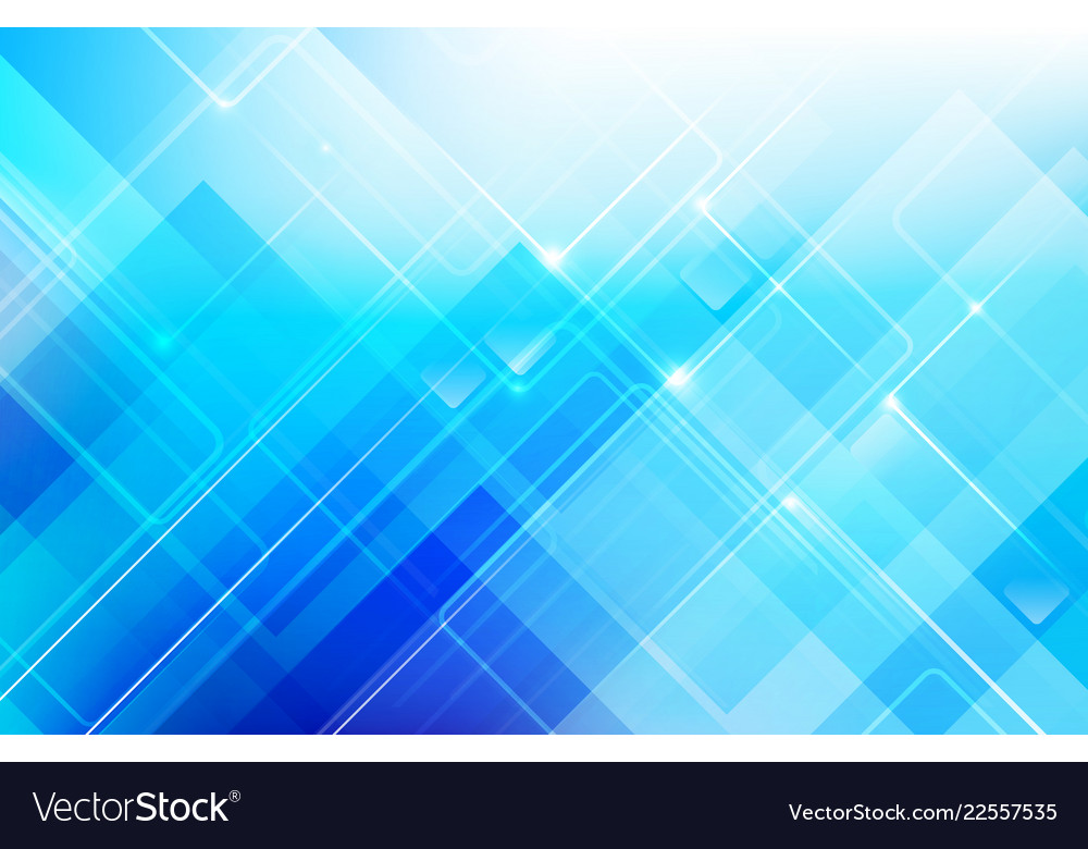Abstract Blue Background With Basic Geometry