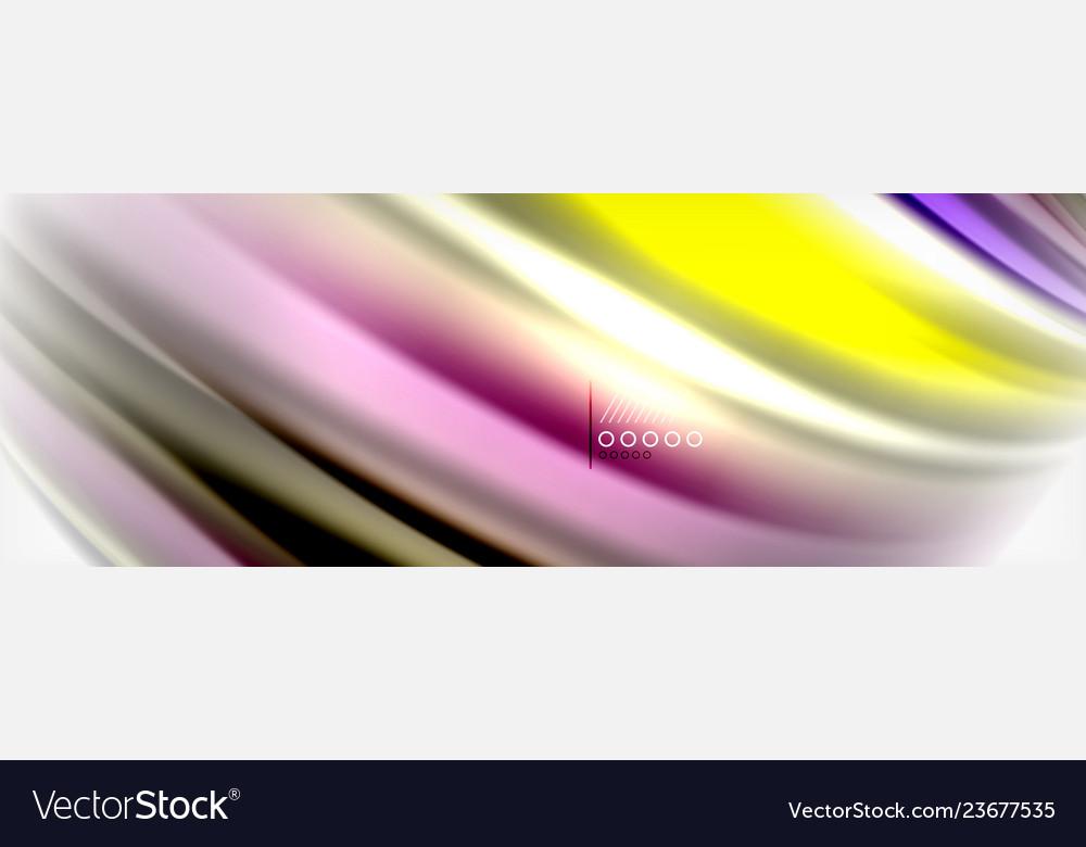 Abstract wave lines liquid fluid rainbow style