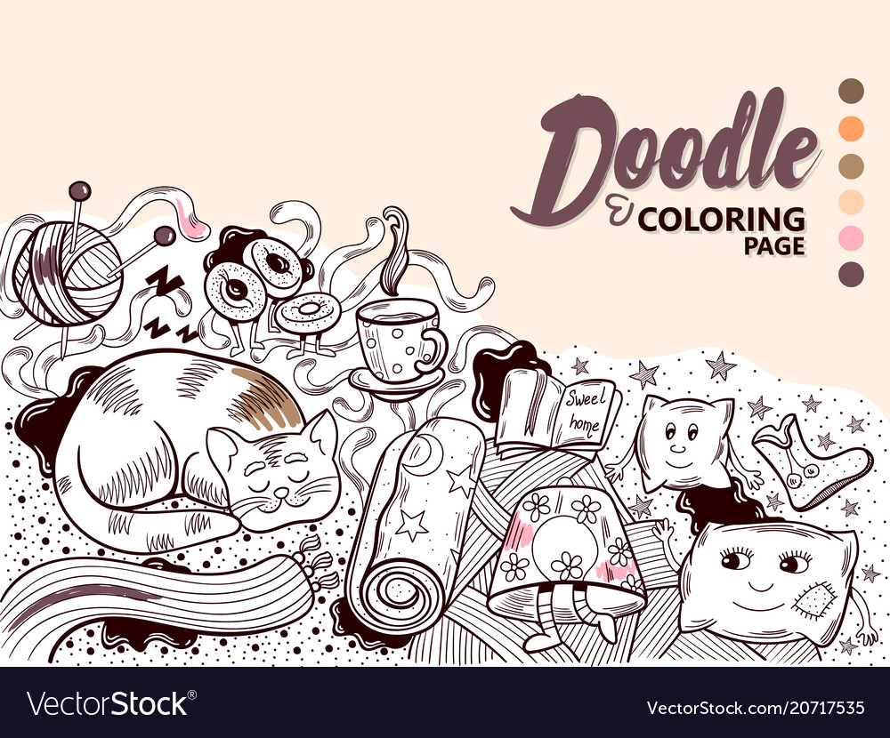Doodle home cosiness