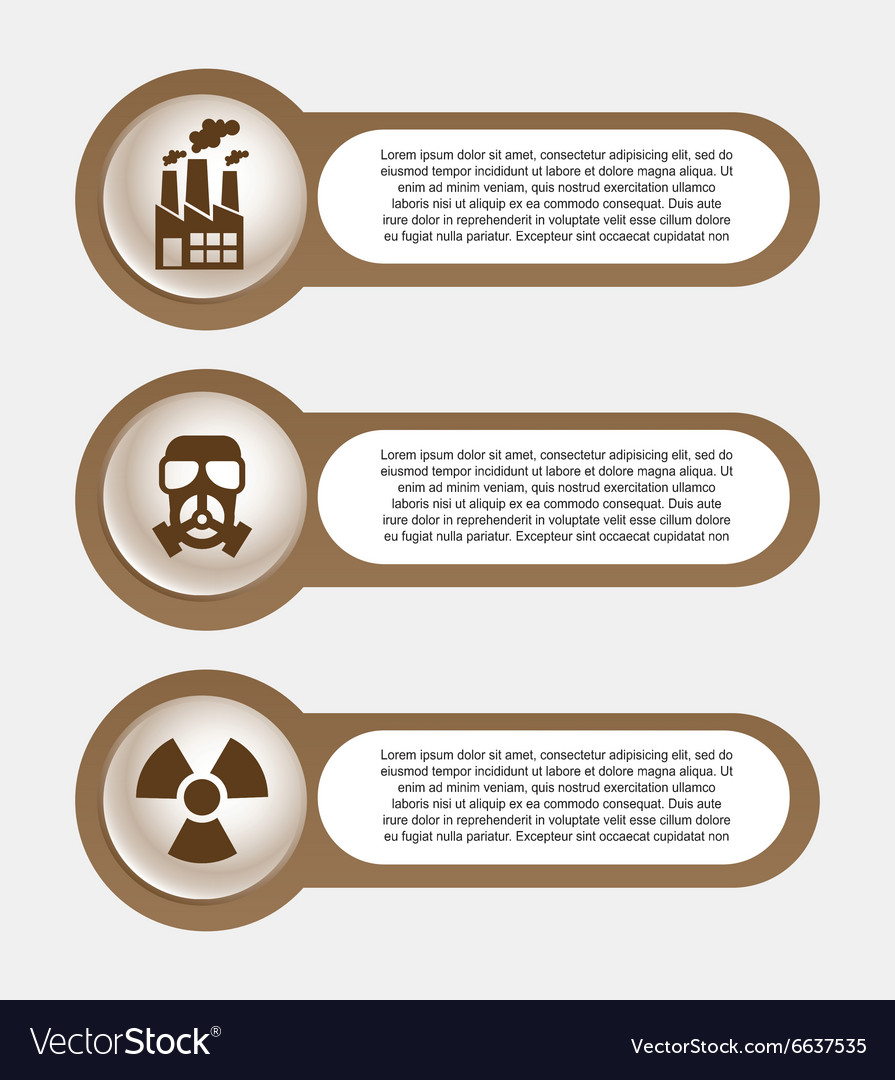Pollution infographics design vector image