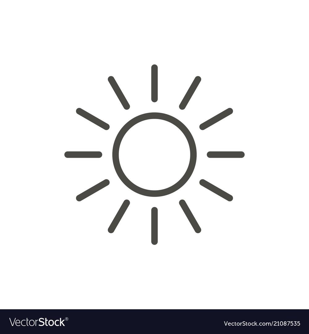 Sun icon line summer symbol