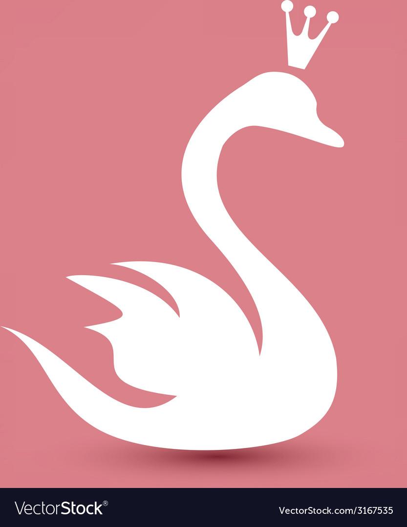 Swan symbol beauty concept icon vector image