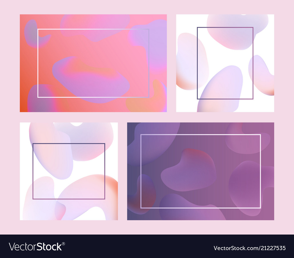 Trendy vibrant gradient background template