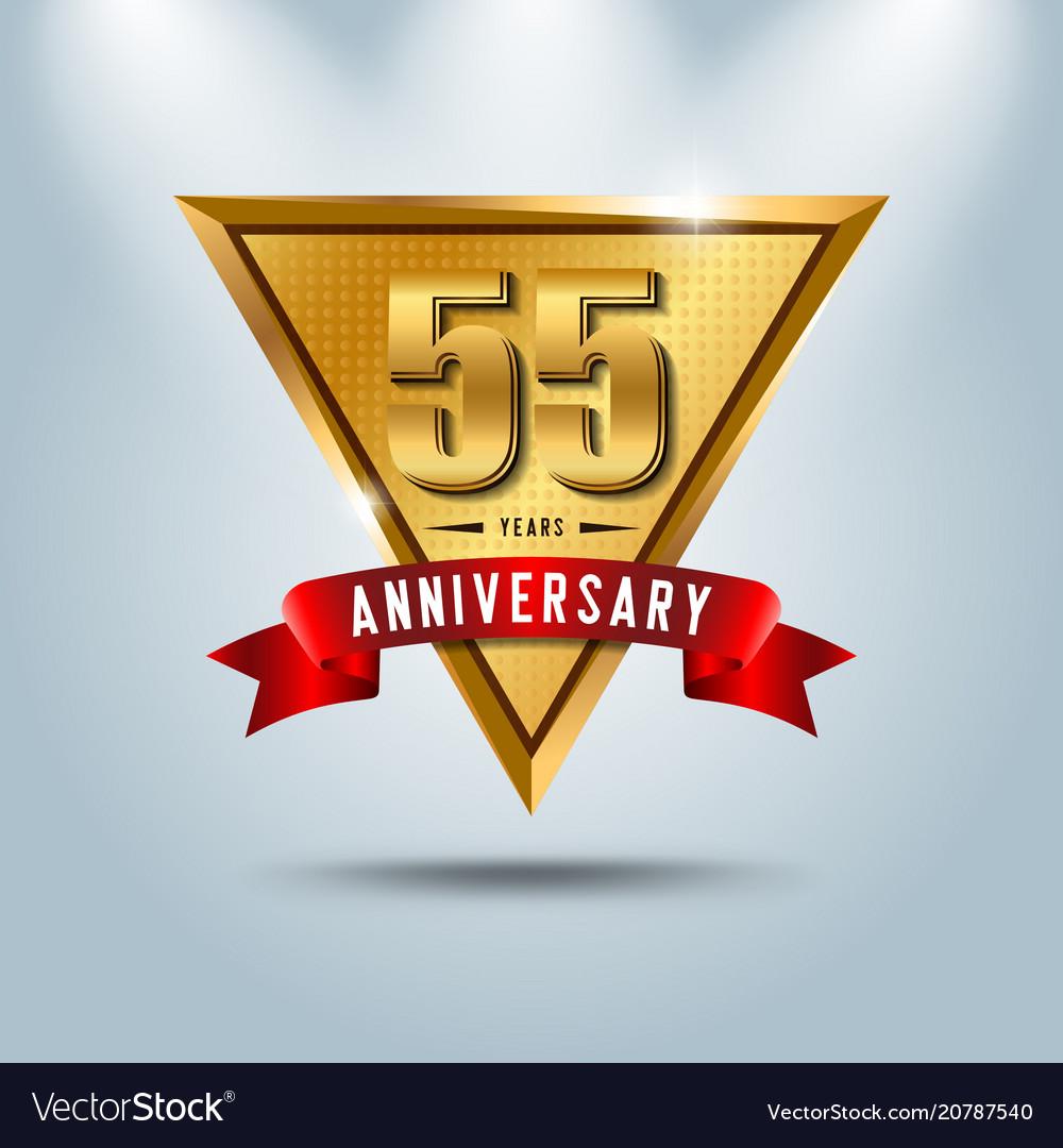 55 years anniversary celebration logotype
