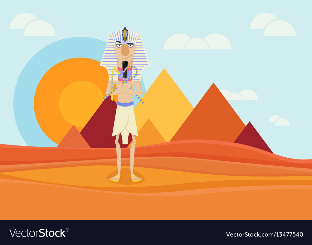 A pharaoh of ancient egypt vector image
