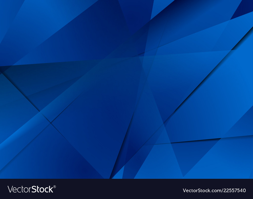 Abstract dark blue technical polygonal background