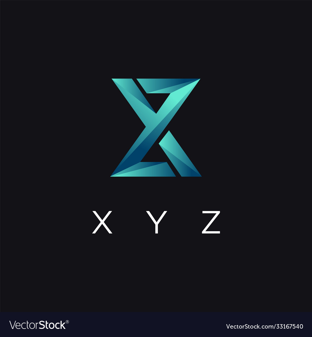 Abstract modern monogram xyz letter logo icon