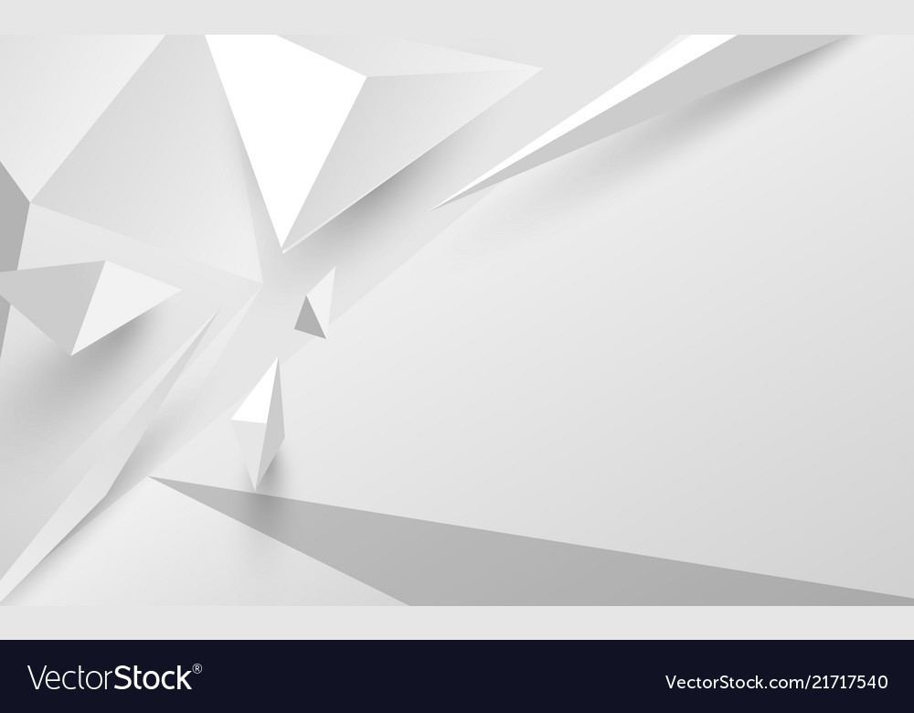 Abstract white 3d polygonal background