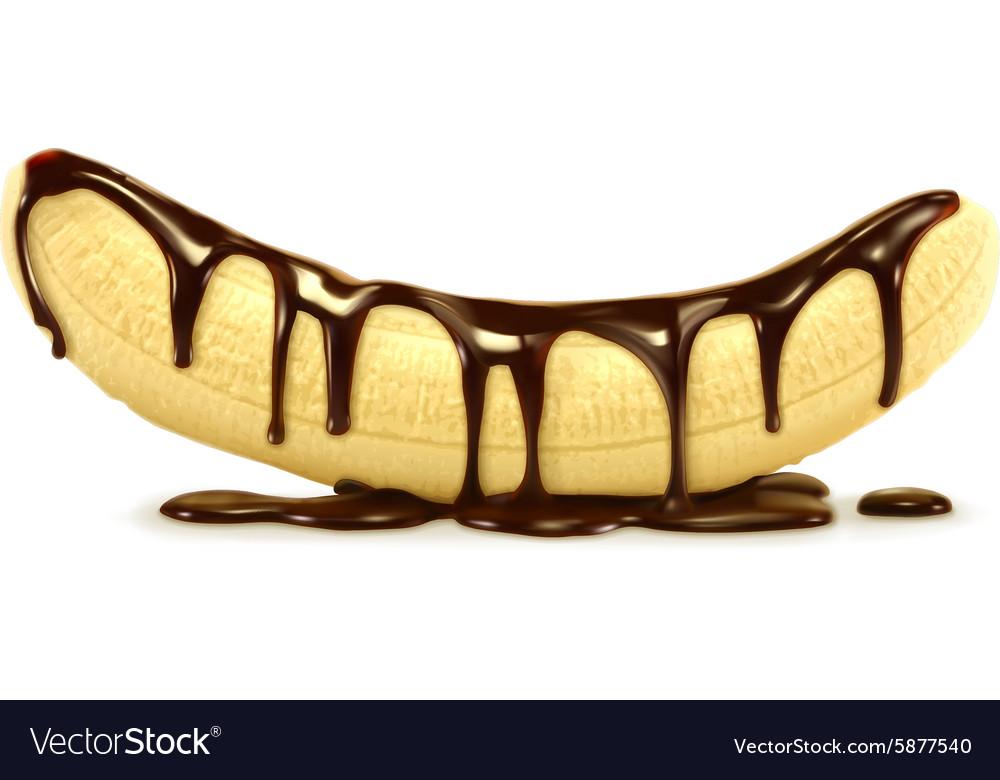 Banana in chocolate