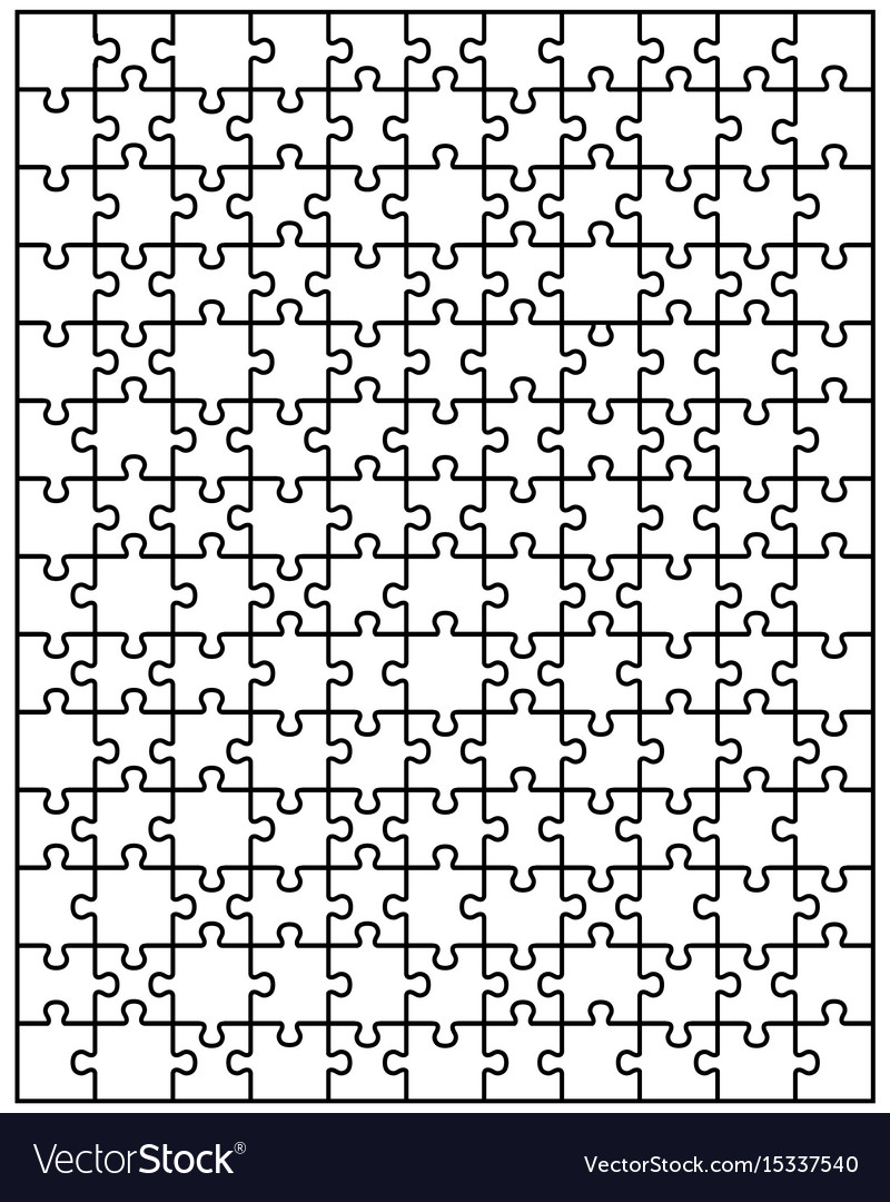 Big white puzzle vector image