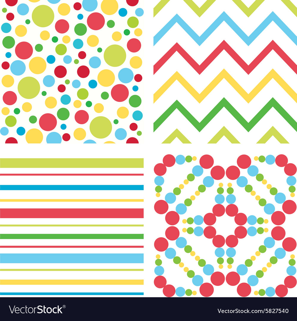 Children colorful pattern vector image