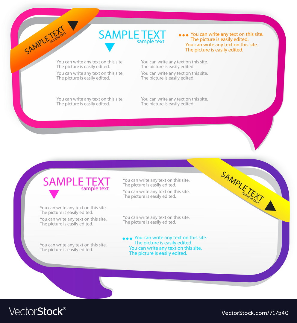 Colorful speech frames Royalty Free Vector Image
