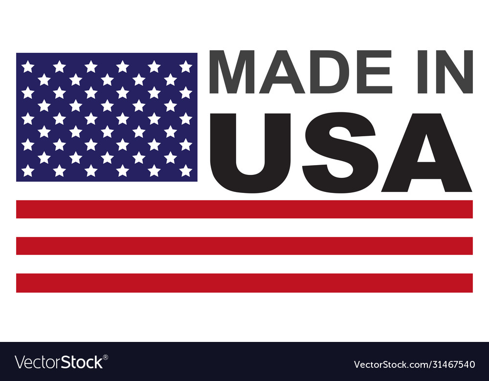 Made in usa flag badge