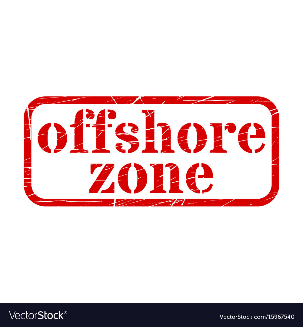 Offshore red stamp grunge sign