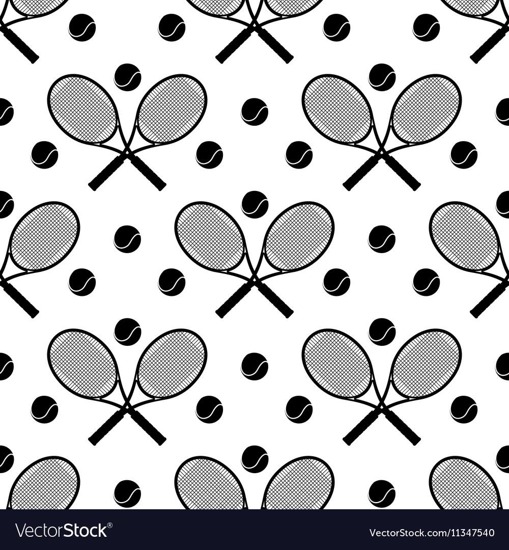 Tennis seamless pattern vector image