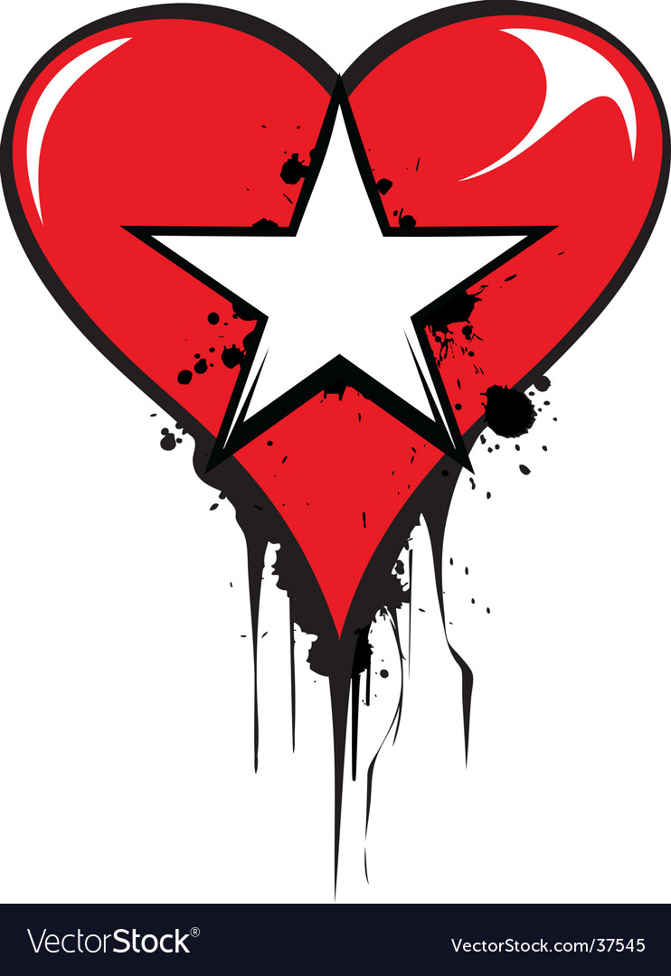 Love star vector image