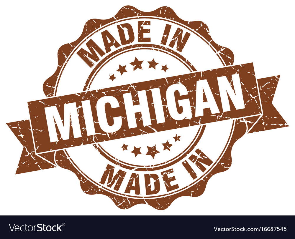 Made In Michigan >> Made In Michigan Round Seal